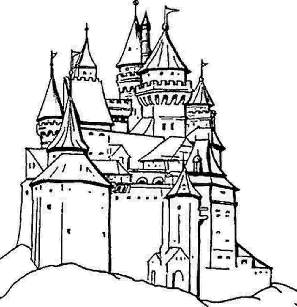 Coloriage Dun Chateau De Princesse.Coloriage Dessin Chateaux A Imprimer Princesse