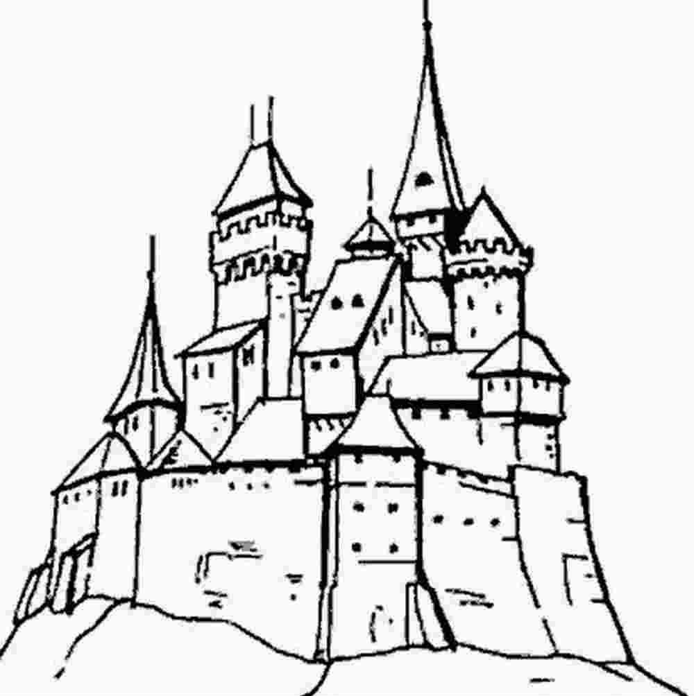 Coloriage Chateau De Bowser.Coloriage Dessin Chateaux A Imprimer Princesse