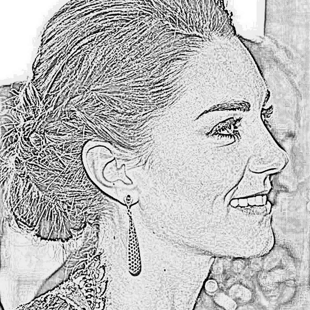 Coloriage Famille Royale.Coloriage Kate Middleton